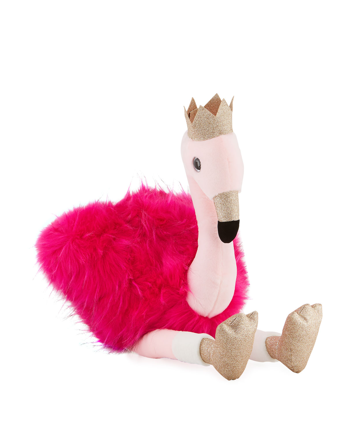 Stuffed Flamingo Toy with Crown 32