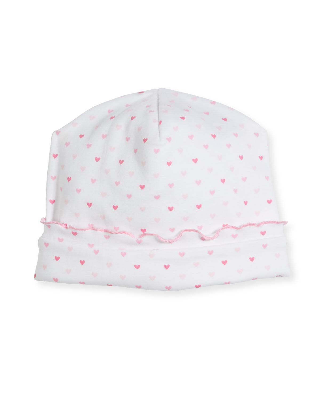 KISSY KISSY Princess Castle Printed Pima Baby Hat in Pink
