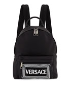 Versace Boys' Backpack w/ Logo Embroidery