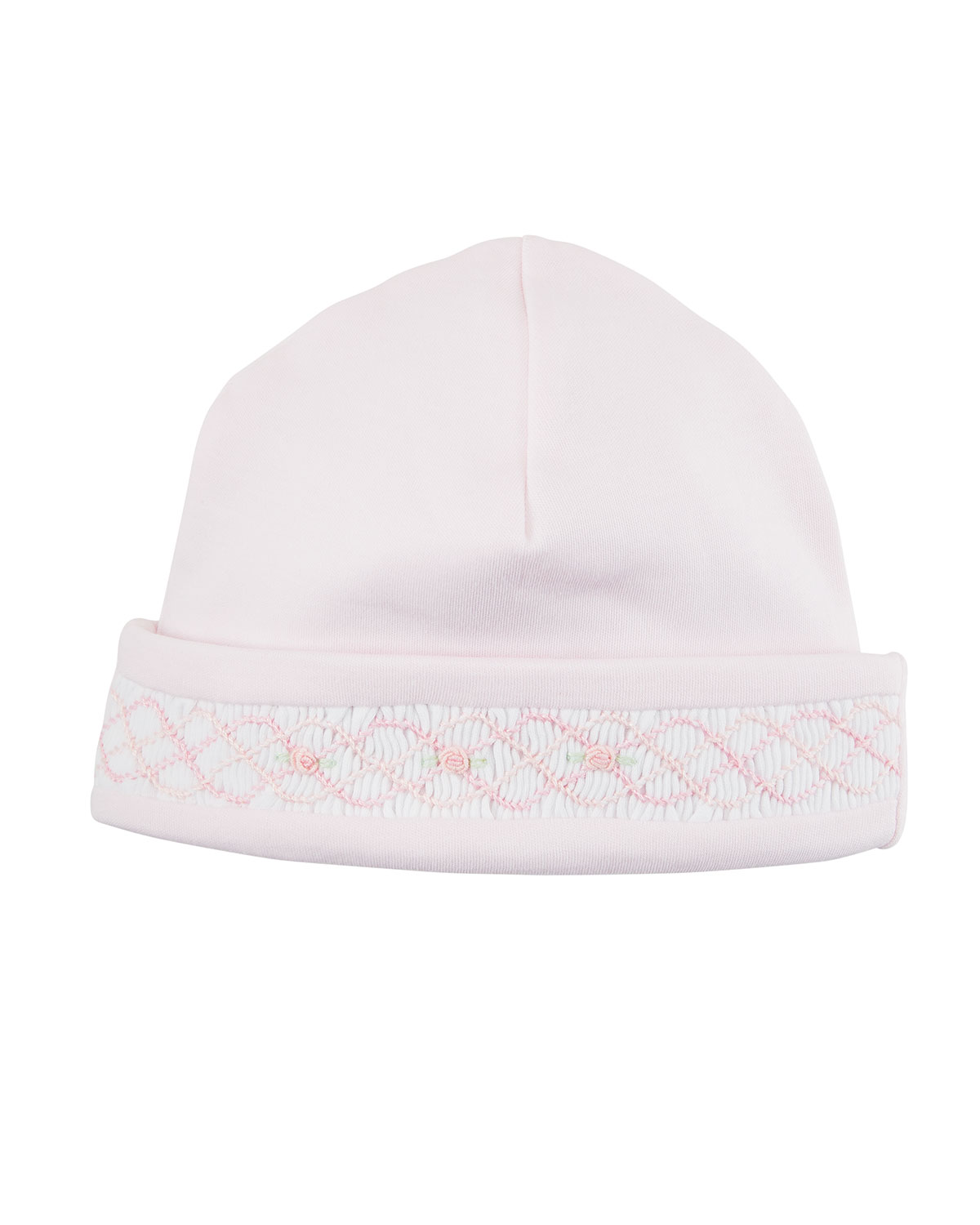 KISSY KISSY Clb Rosebuds Embroidered Baby Hat in Pink