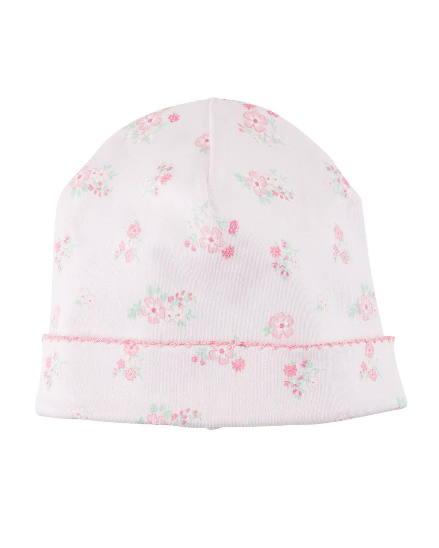 KISSY KISSY Summer Cheer Printed Pima Baby Hat in Pink