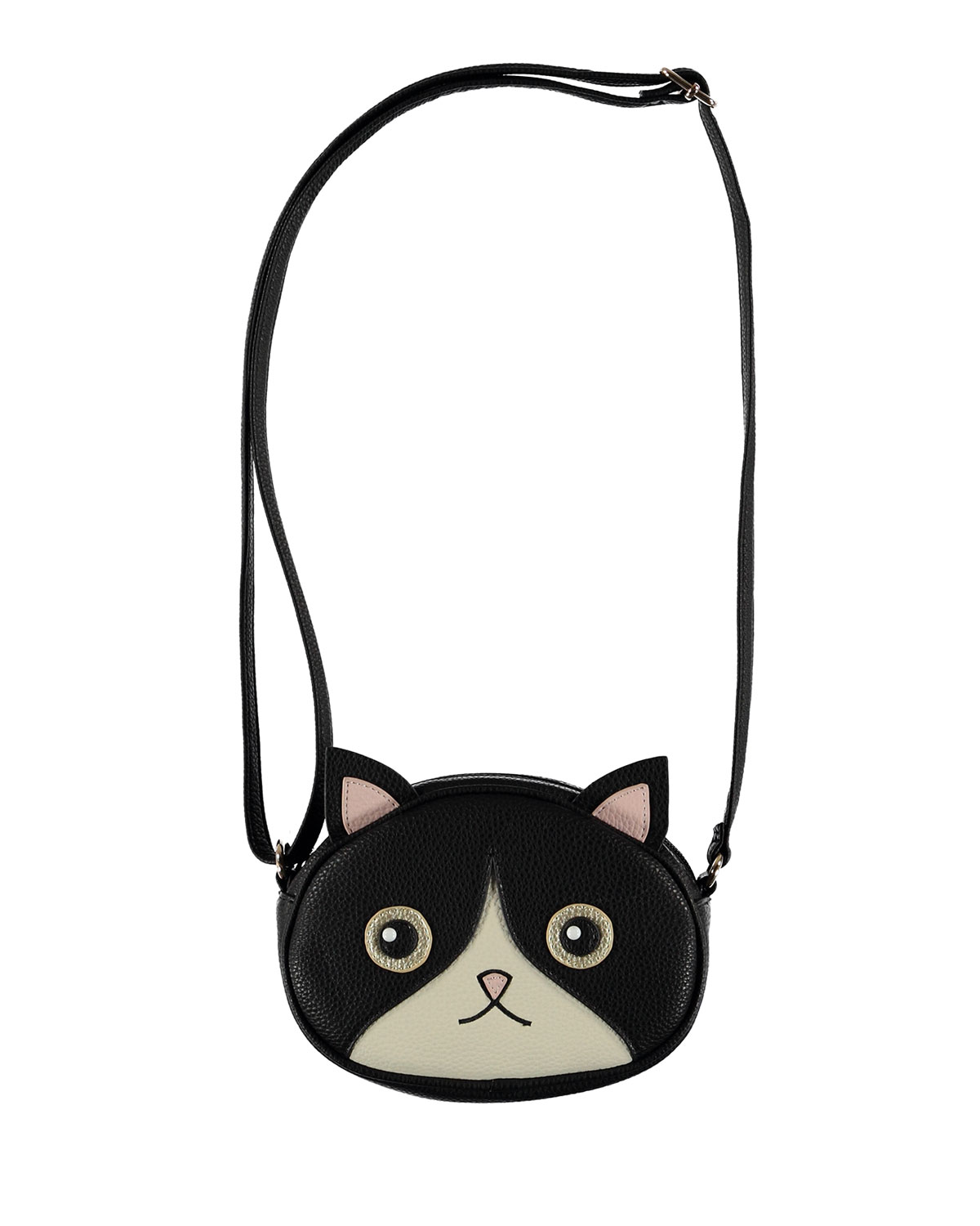 Molo GIRLS' KITTY FACE CROSSBODY BAG