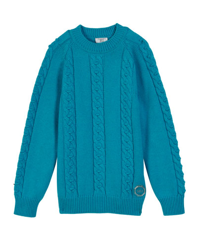 Cashmere Cable-Knit Sweater, Size 10-14