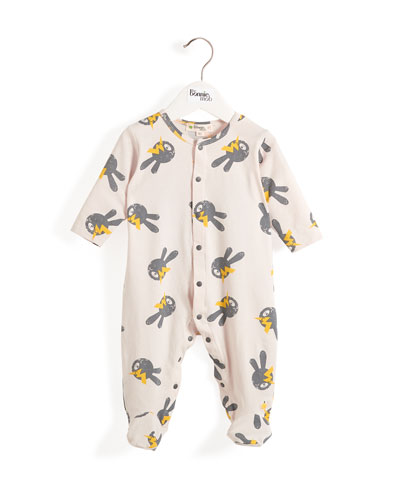 5eadc46efcf Quick Look. bonniemob · Bunny   Lightning Bolt Printed Footie Pajamas