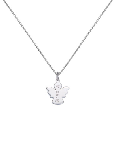 1a34bf603ad02 Quick Look. Merci Maman · Kids  Sterling Silver Angel Charm Necklace