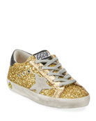 Golden Goose Superstar Glitter Fabric Low-Top Sneakers,