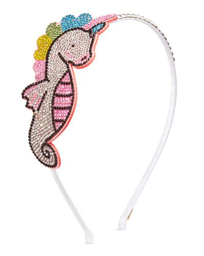 Girls' Crystal Sea Horse Headband