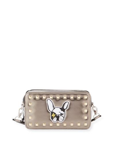 Girls' Metallic Bulldog Crossbody Bag