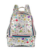 Bari Lynn Kid's Galaxy Print Shimmer Backpack