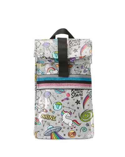 Kid's Galaxy Icon Glitter Lunch Bag