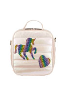Bari Lynn Kid's Puffy Lunch Box w/ Unicorn