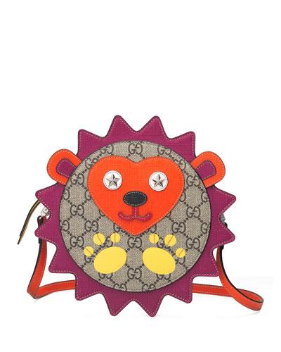 Kid's GG Supreme Bear Applique Crossbody Bag