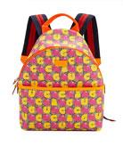 Gucci Kids' Strawberry Logo GG Supreme Backpack