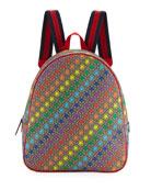 Gucci Kids' Colorful Stargirl GG Supreme Backpack