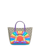 Gucci Kids' Rainbow Print GG Supreme Tote Bag