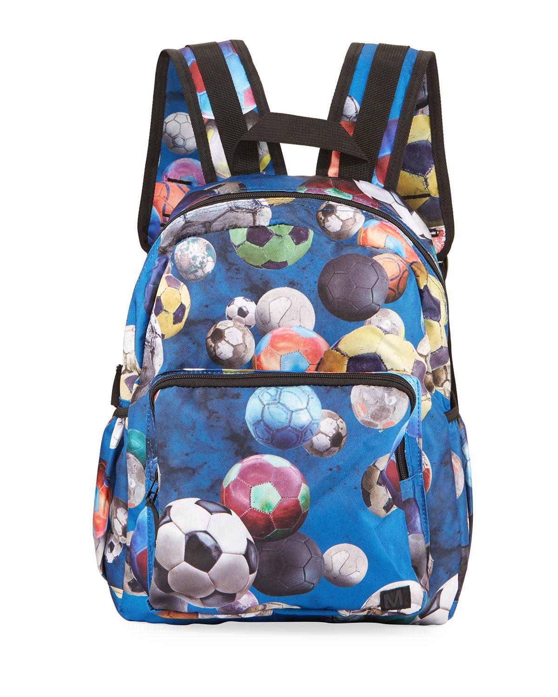 Molo Backpacks KID'S SOCCER BALL PRINT BACKPACK