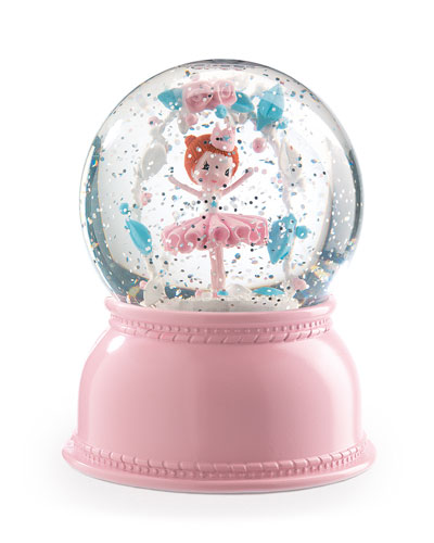 Ballerina Snow Globe Night Light
