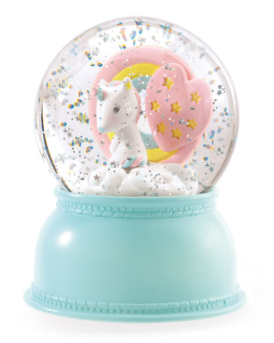 Unicorn Snow Globe Night Light