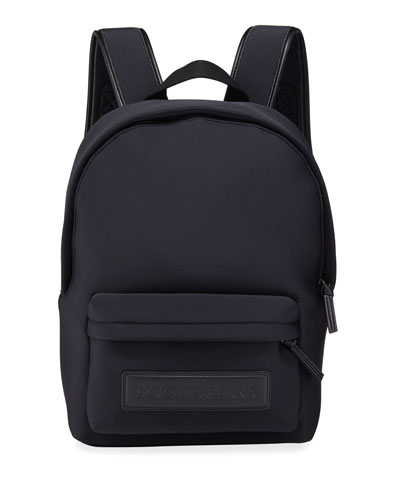 Kid's Neoprene Backpack w/ Leather Logo Patch