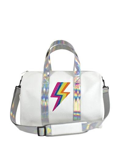 Rainbow Lightning Bolt Duffle Bag