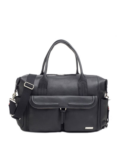 Charlotte Leather Diaper Bag Tote