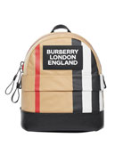 Burberry Kid's Nico Icon Stripe Backpack