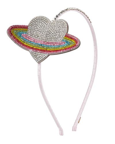 Girl's Crystal Heart Galaxy Headband