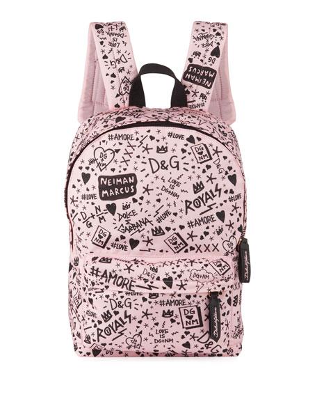 Dolce & Gabbana Kids' DG + NM Logo Backpack