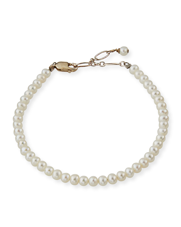Girl's Small Pearl Bracelet