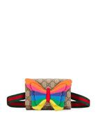 Gucci Girl's Rainbow Butterfly Belt Bag