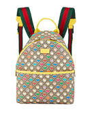 Gucci Kid's GG Supreme Hearts Print Backpack