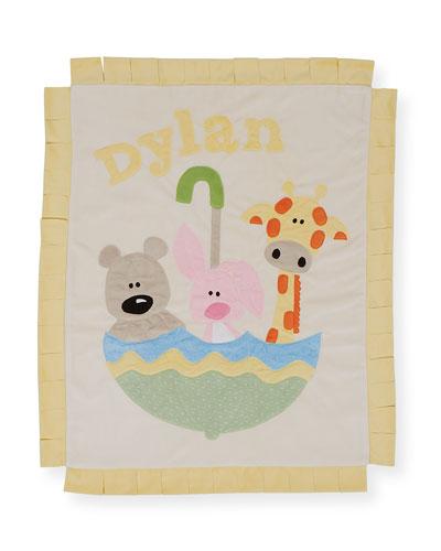 Personalized Rainy Day Plush Lovey Blanket