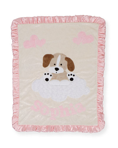 Personalized Puppy Dreams Plush Blanket