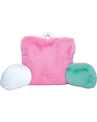 Furry Colorblock Lounge Pillow