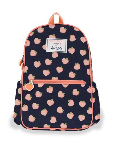 Kid's Peach Print Backpack