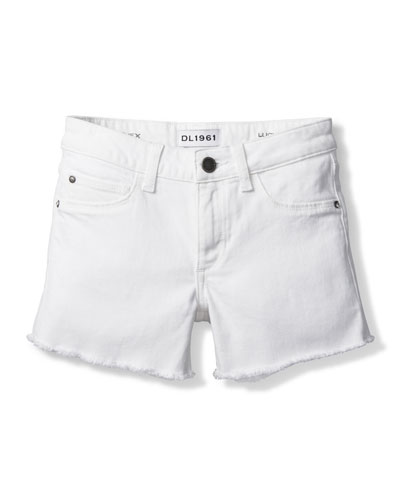 Girl's Lucy Cut Off Denim Shorts, Size 7-16
