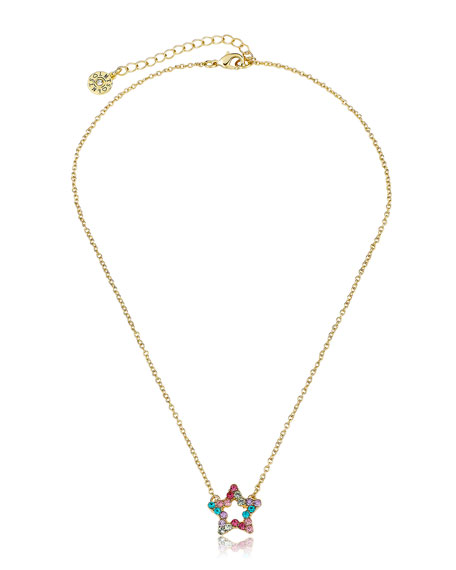 LMTS Girls' Open Star Pendant Necklace (Hypoallergenic)