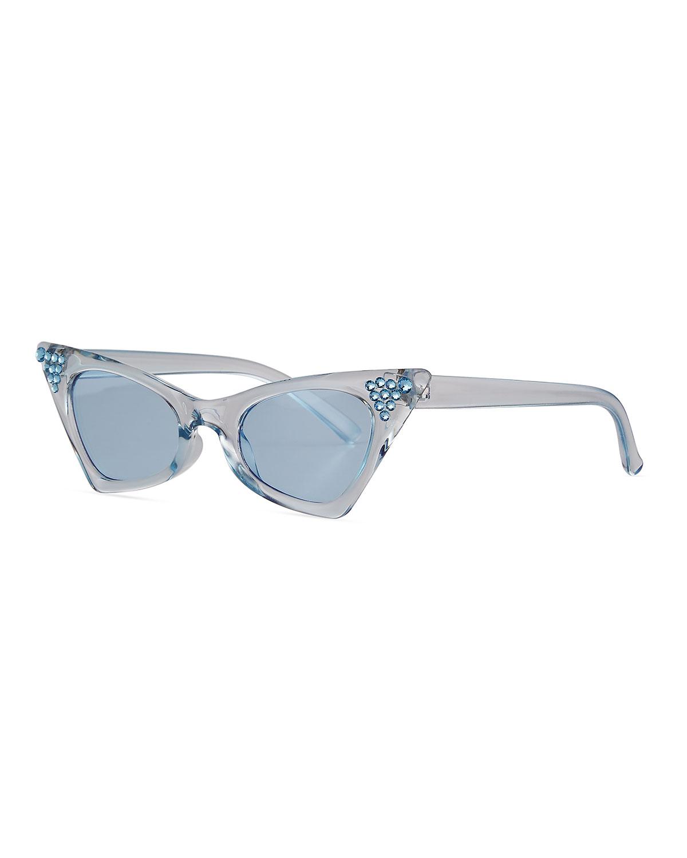 Kid's Swarovski Crystal Cat-Eye Sunglasses