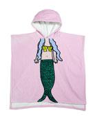 Stella McCartney Kids Girl's Mermaid Print Hooded Towel