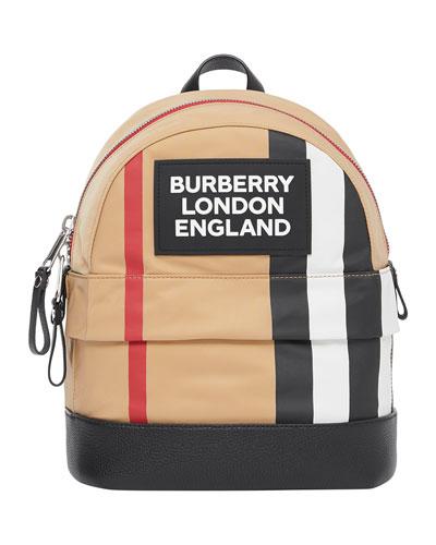 Kid's Mini Nico Check Backpack