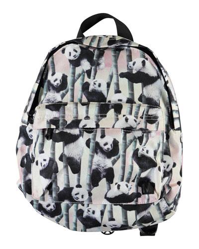 Kid's Panda-Print Small Backpack