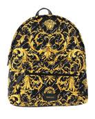 Versace Girl's Signature Printed Backpack