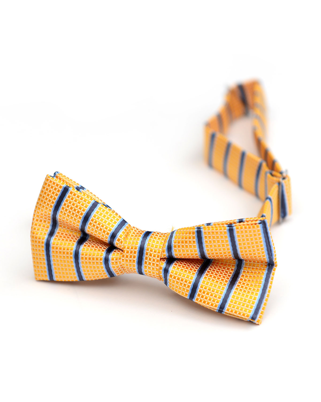 Boy's Check & Stripes Bow Tie