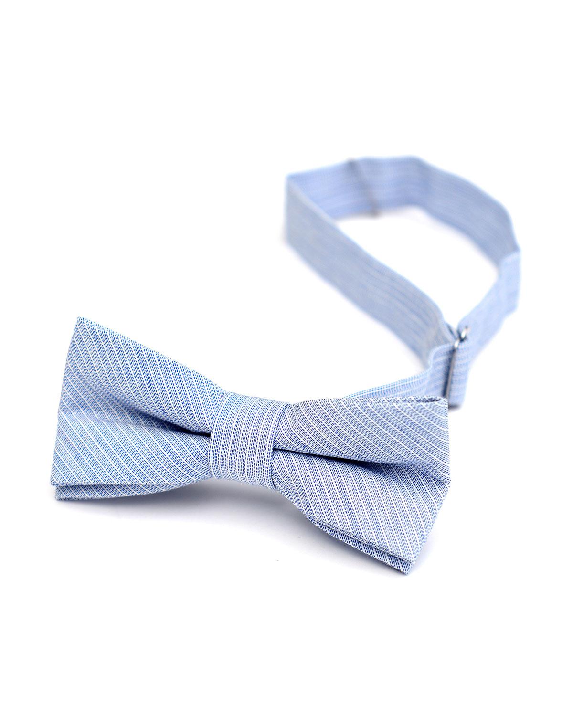 Boy's Textured Stripe Bow Tie