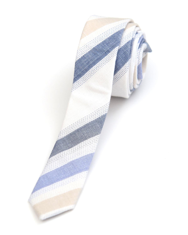 Boys' Striped Linen/Cotton Tie