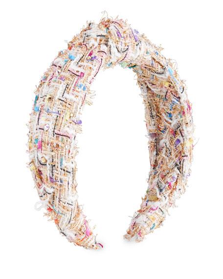 Bari Lynn Girl's Knot Headband w/ Rainbow Stones