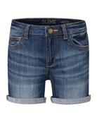 DL1961 Premium Denim Piper Cuffed Denim Shorts, Size
