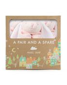 Angel Dear Pink Bunny Blankie 3-Pack