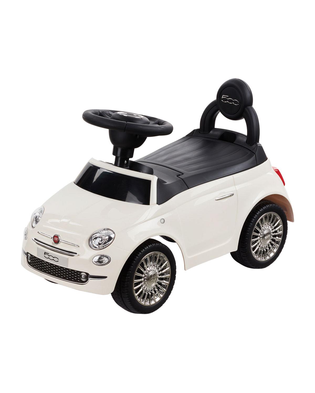 Best Ride On Cars Kid's Fiat 500 Push Car, White