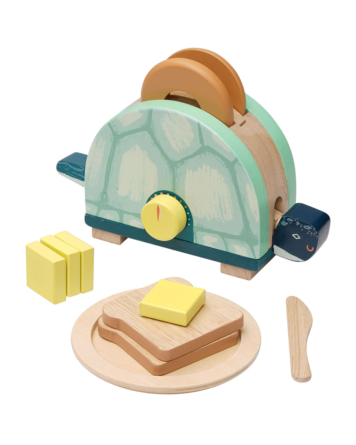 Toasty Turtle Pretend Play Cooking Wooden Toy Set